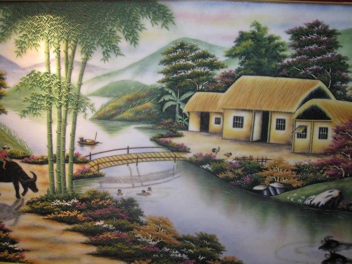 Tranh-Phong-Canh-Lang-Que1-SieuThiTranhDep.net